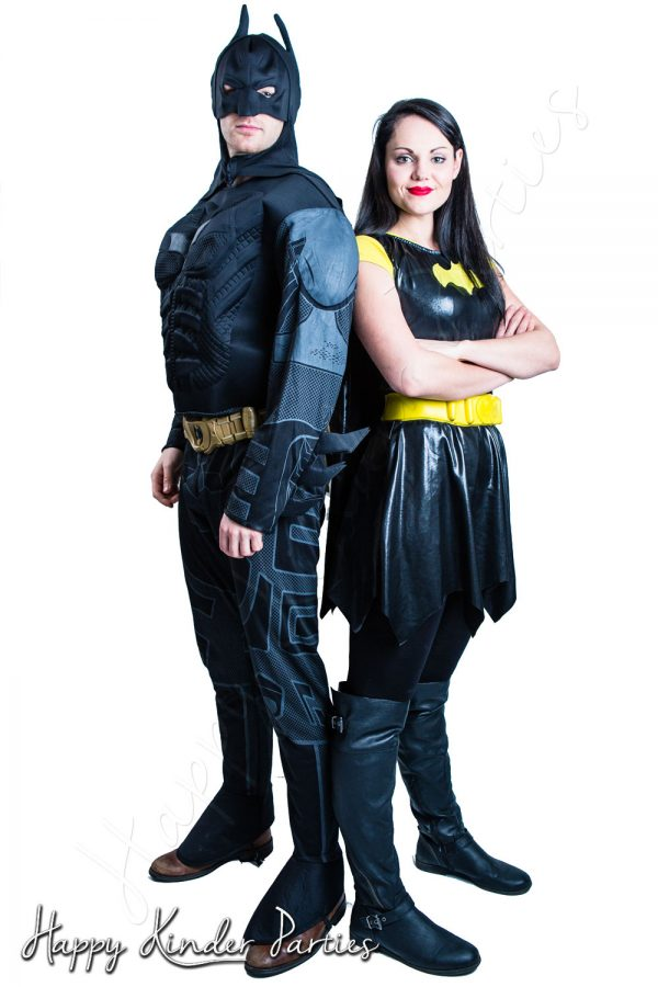 Batman & Batwoman Childrens Party Entertainer Costume