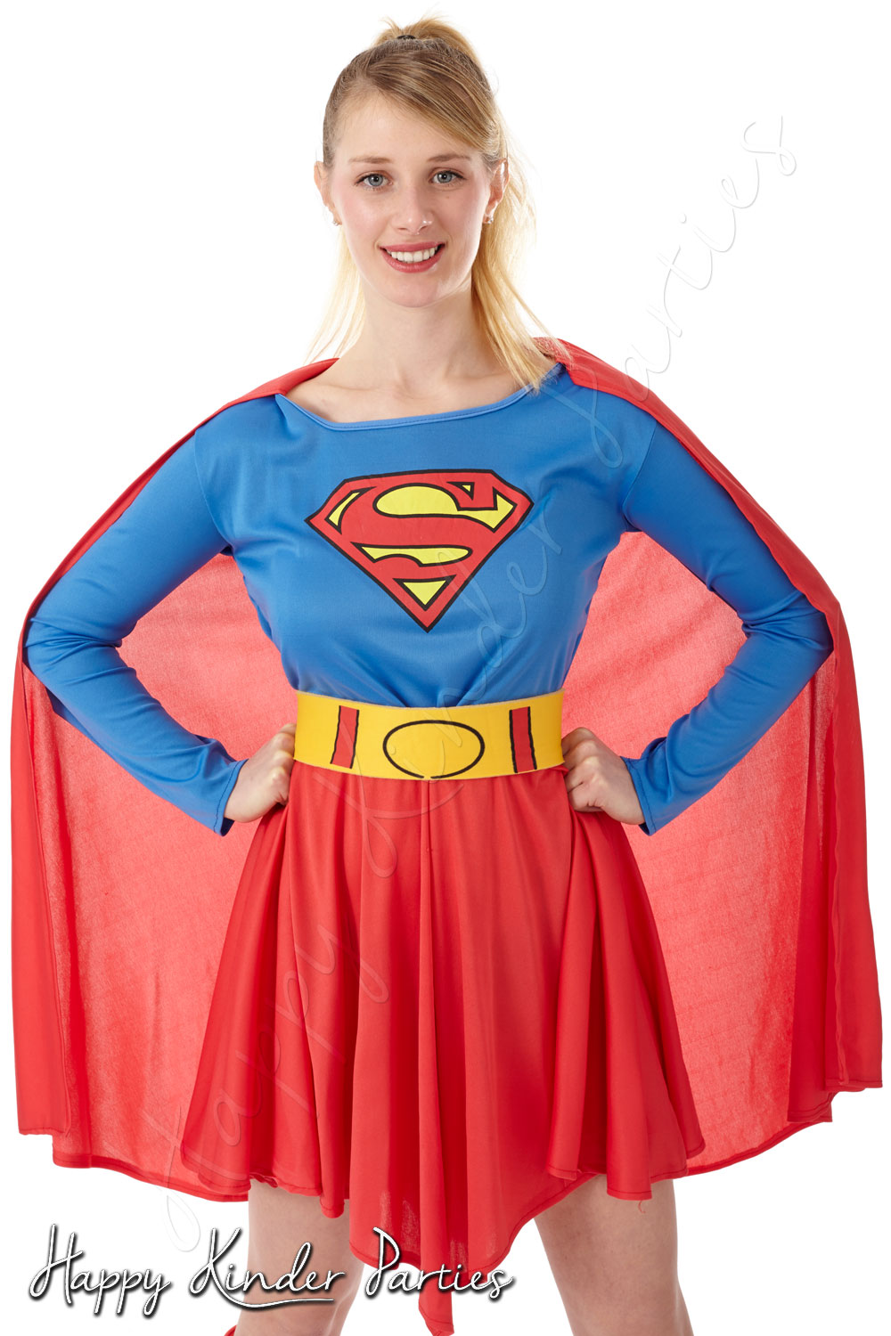 Super Girl Childrens Party Entertainer Costume