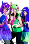 Monster Trio Childrens Party Entertainer Costume